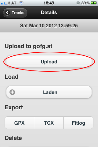 screenshot iOS upload